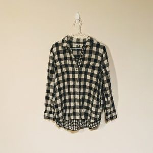 Madewell black and white flannel size L
